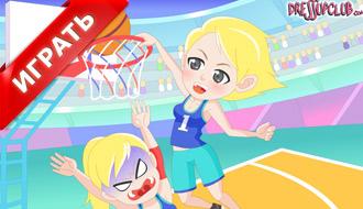 Девушка на баскетболе