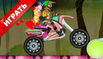 Барби на мотоцикле
