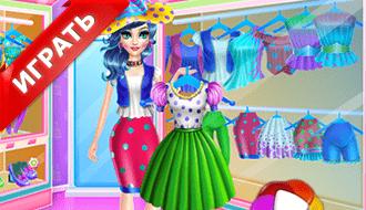 Одевалка конфетной девушки