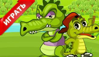 Охота аллигаторов на утят