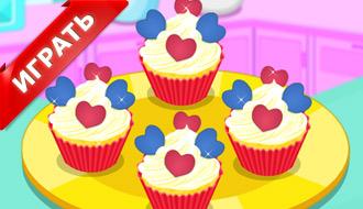 Пирожные сердечки