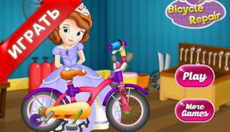 Принцесса София на велосипеде