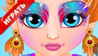 Рисунок на лице Анны