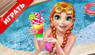 Снежная королева в бассейне