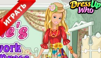 Лоскутное платье Барби