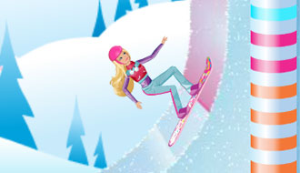 Барби на сноуборде