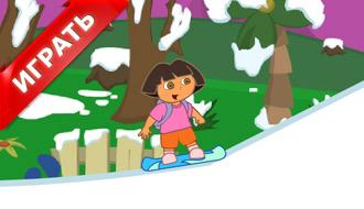 Даша на сноуборде