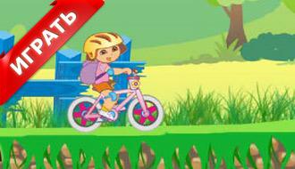 Игра Даша на велосипеде