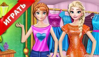 Эльза и Анна в магазине