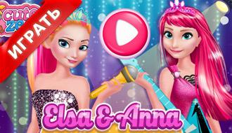 Эльза и Анна в рок стиле
