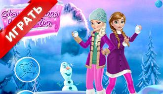 Эльза и Анна зимой