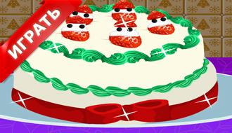 Новый клубничный торт