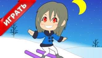 Лыжная девушка