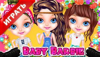 Малышки Барби летом