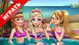 Принцессы в бассейне