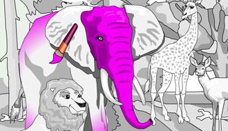Раскраска для животных