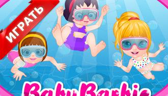 Русалка Барби под водой