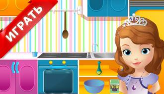 София готовит маффины