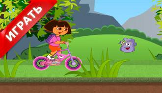 Игры Даша на велосипеде