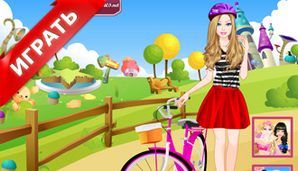 Барби и велосипед