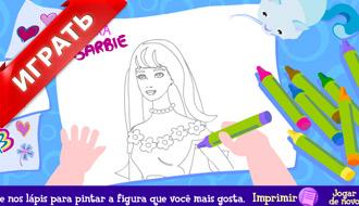 Игры раскраски Барби