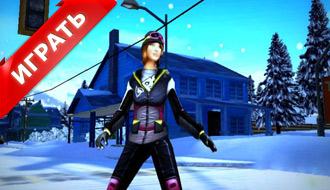 Игра на сноуборде в 3D